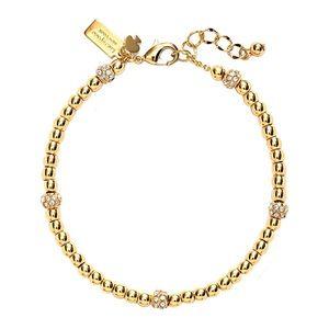 KATE SPADE • Gold How Charming Beaded Bracelet